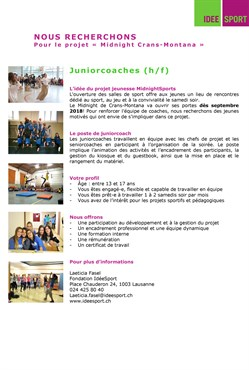 Idéessport Juniorcoaches
